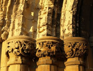 Stonework damaged by Acid Rain