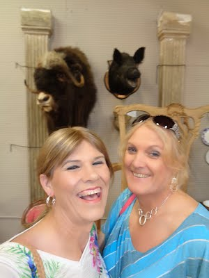 My friend Teri and I at West End Antiques mall in Richmond Va.
