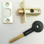 PVC door added secure lock bolt