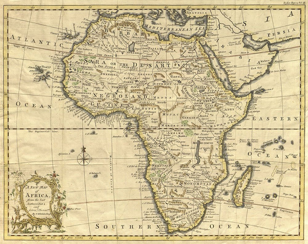 A New Map Of Africa (1770)