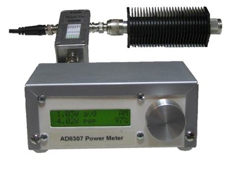 A very simple to build, menu driven RF Power Meter, based on