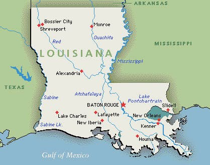 map of the state of louisiana Map Of State Louisiana map of the state of louisiana