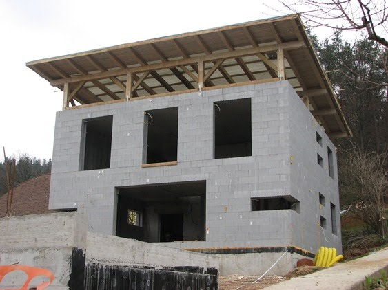 Building A Passive House Low Energy Home Building An Energy Efficient  Passive House With Wooden Cube House