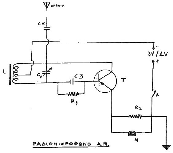 Simple Am Transmitter on one tube receiver circuit