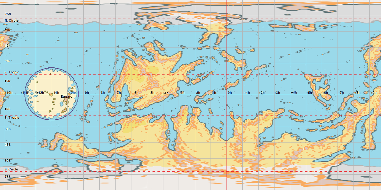 Thalassa S Physical World Map With Regional Borders The Piazza