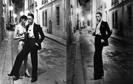 99eb685a29d ... Yves Saint Laurent paired up with Helmut Newton that 'Le Smoking'  became popular, They both came together to rein verse the power of women.