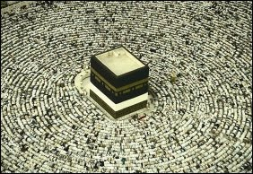 Muslims during prayer in Makkah