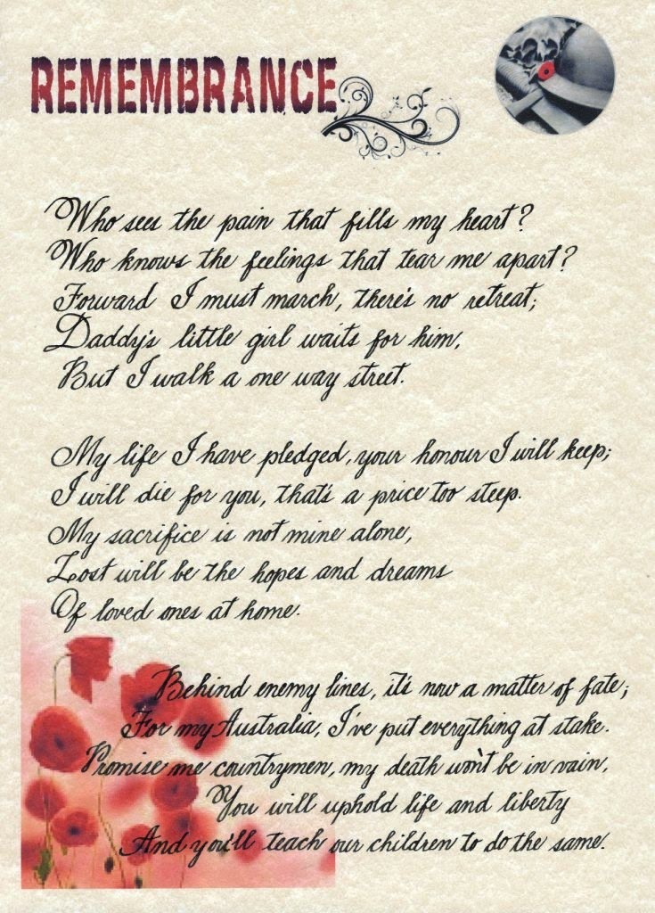 Remembrance Day Poem By Mab Rahman Theletterman Theletterman