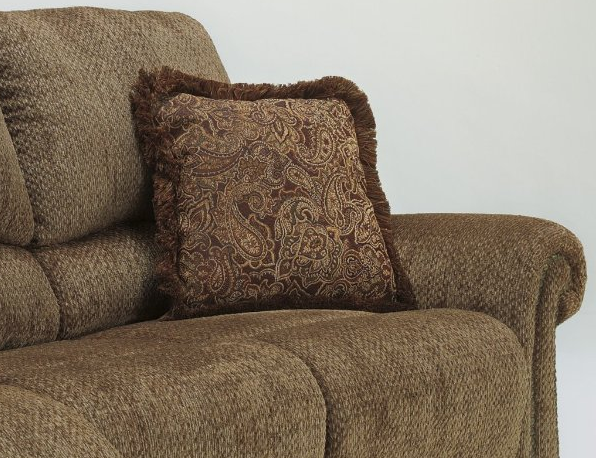 Product details Macnair traditional umber tone thick chenille fabric upholstered reclining sofa & Macnair traditional umber tone thick chenille fabric upholstered ... islam-shia.org