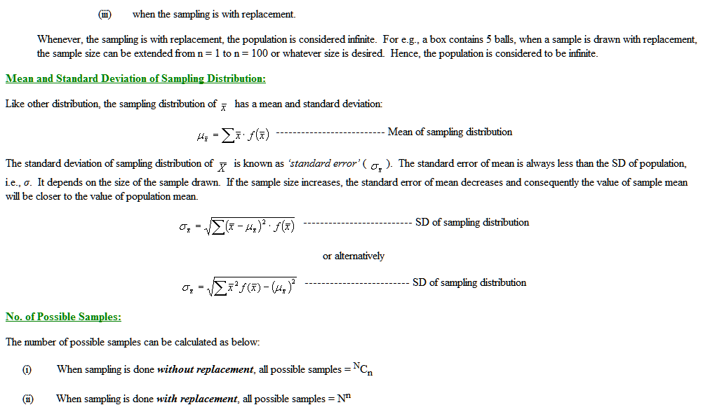 Sampling Distribution Theory 1 - MA Economics Karachi University
