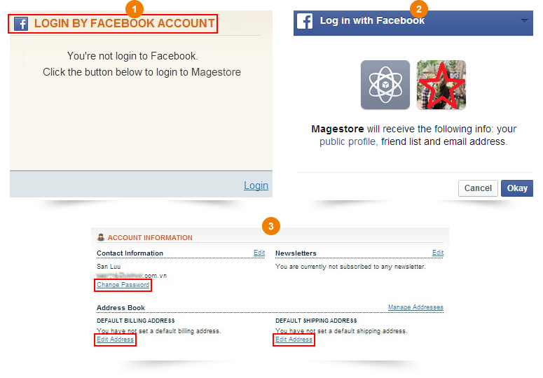 Magento Facebook Login extension features detailed