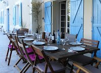 Maison Pyron terrace shared family meals