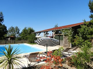 Relax by the large heated pool