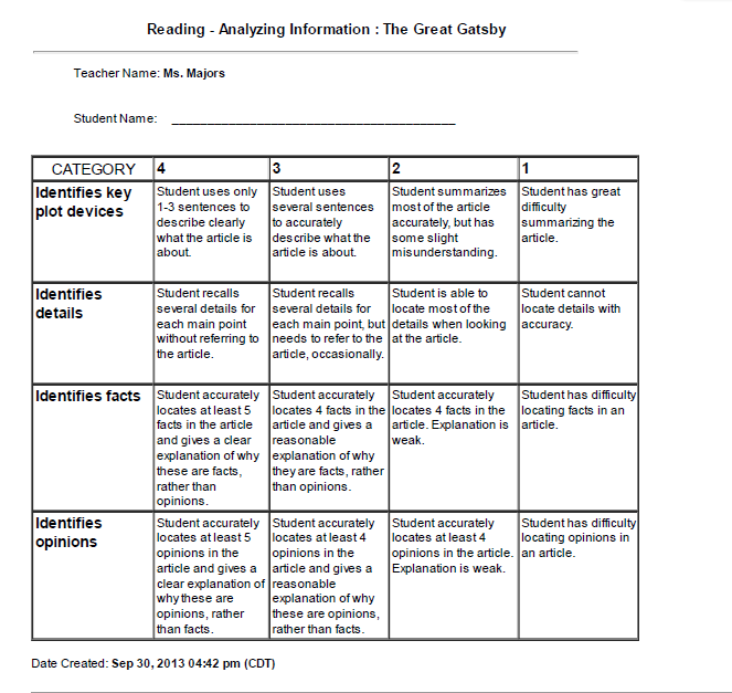 rubric - 5 paragraph literary essay Irubric nx99bc: rubric title literary analysisfive paragraph essay built by tolstoy10 using irubriccom free rubric builder and assessment tools.