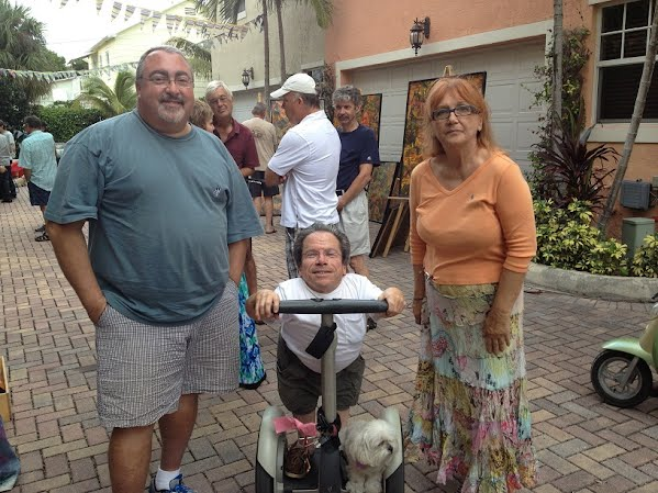Steve, Greg, and AnnaMaria at the 2012 Art Stroll