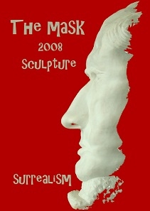 The Mask 2008 marble sculpture