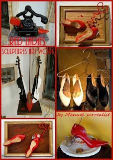 Red Ladies part 1 sculptures
