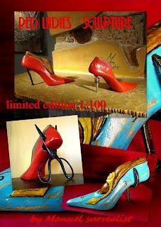 Red Ladies part 2 surreal sculptures