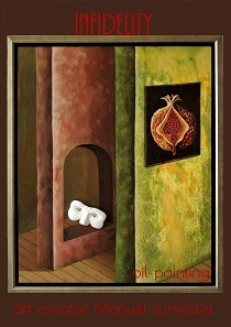 Infidelity 2007 oil painting/ sculpture