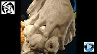 """Astral projection 2008"" surreal marble sculpture by © Manuel R. surrealist d.60x40x30cm"