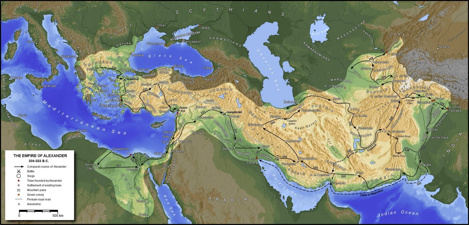 how was alexander the great able to conquer the empire