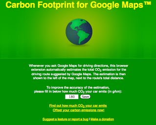 Carbon Footprint for Google Maps