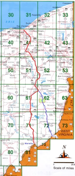 222 Old Route 8 in Ohio With Map   Maps for Two Quaker Cemeteries
