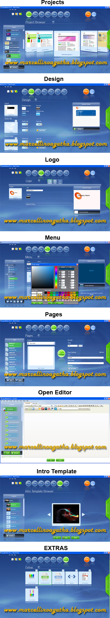 Membuat Template Website dengan PhotonFX Easy Website Pro Unlimited v5.0.8