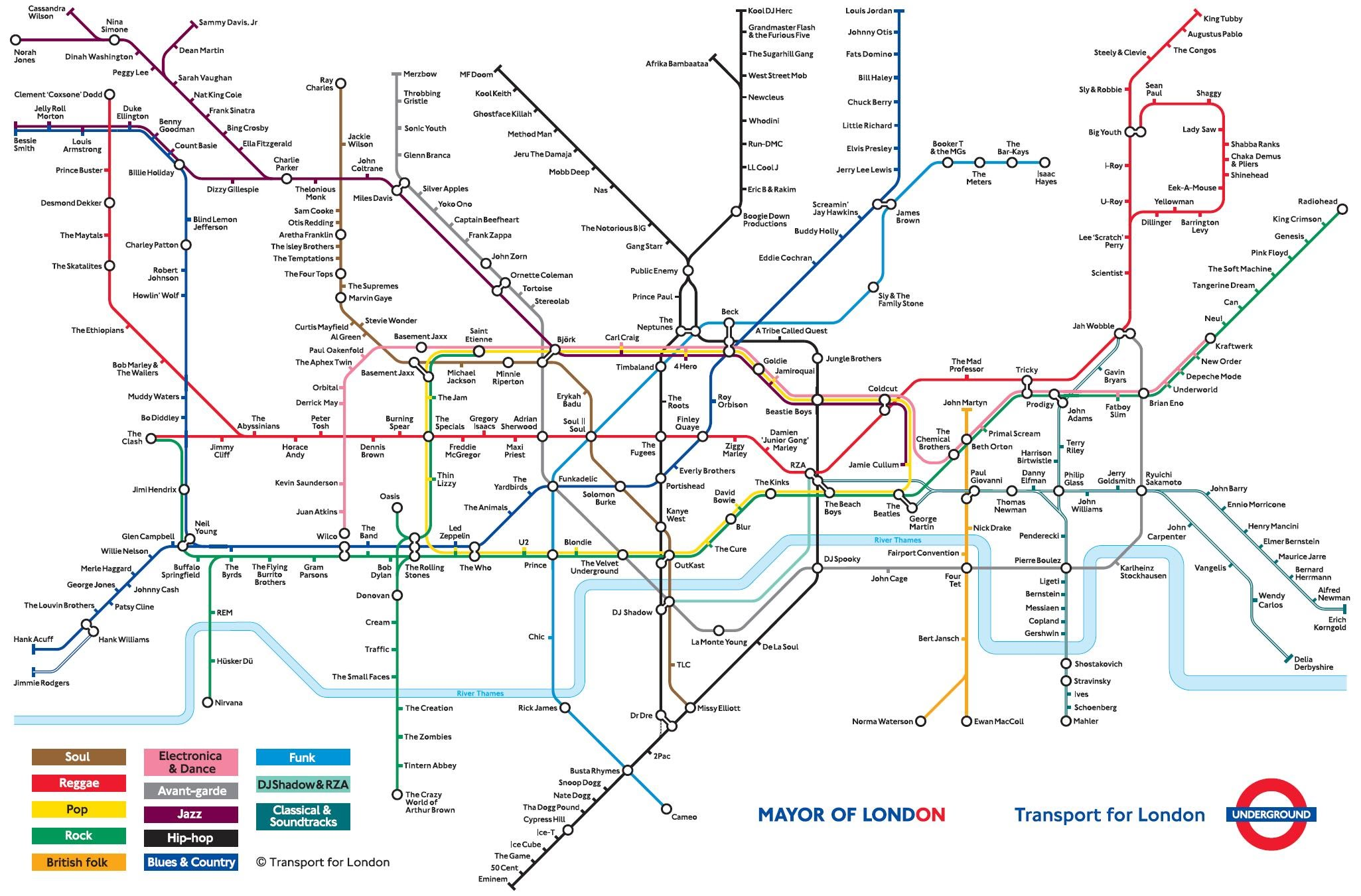Music Underground Map