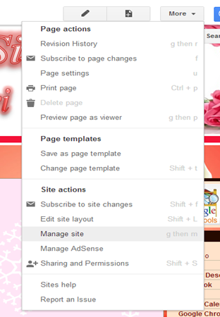 Also From Manage Site You Can Play With Layout Colors Fonts And Themes