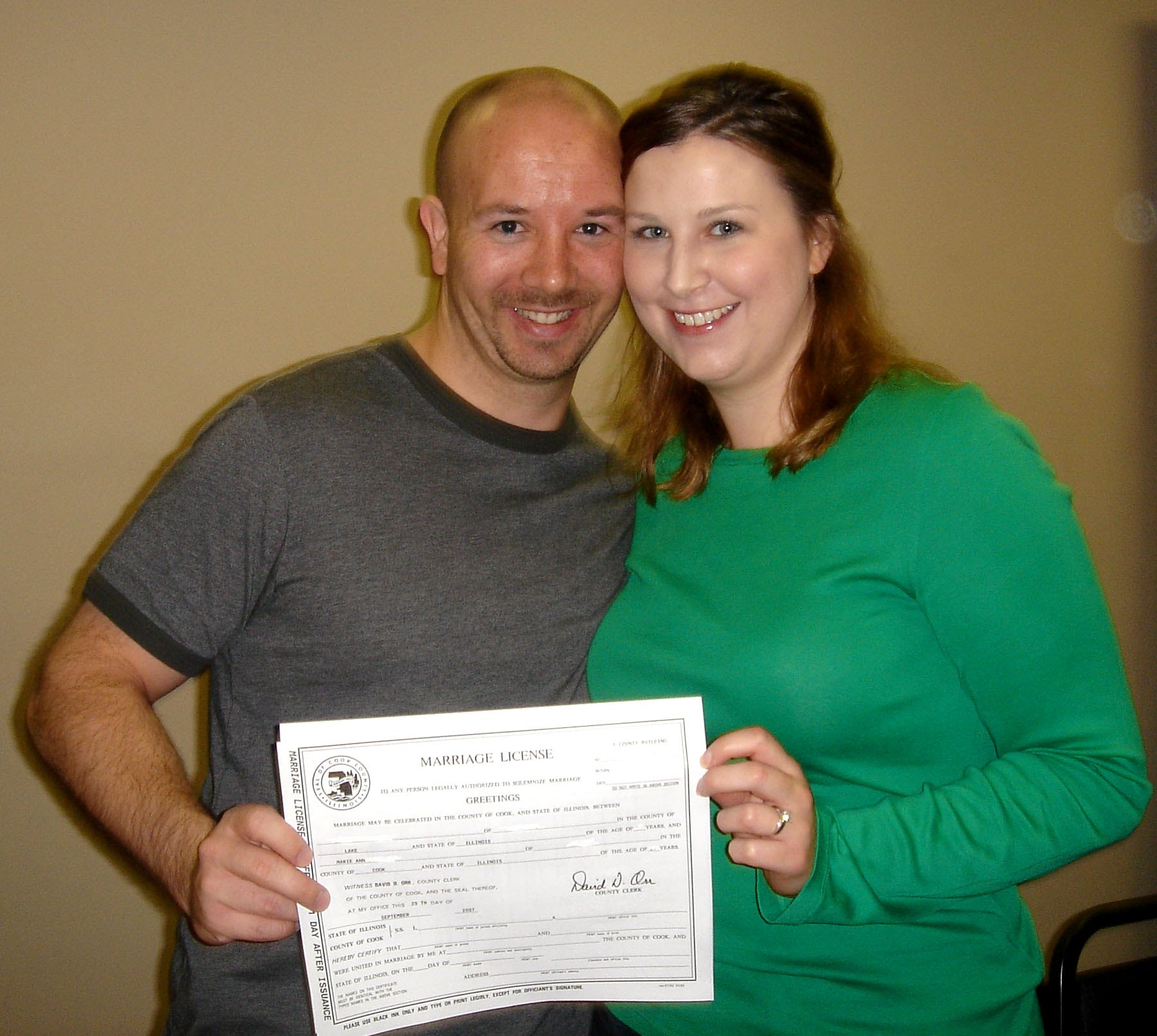 Dupage County Marriage License Copy