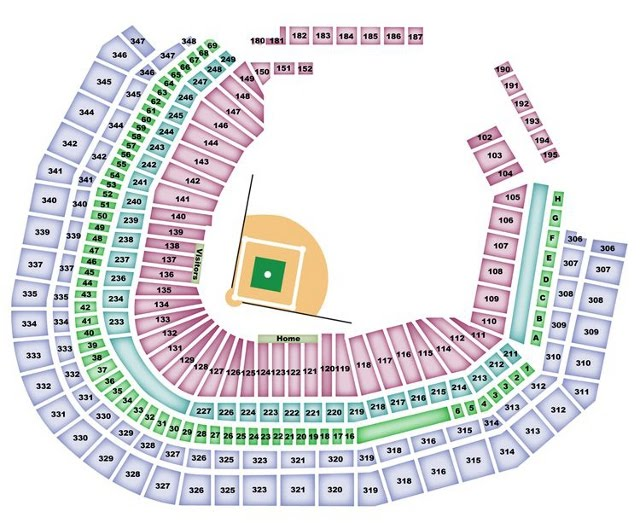 Safeco Field Map Seattle Mariners Seating Chart   MarinersSeatingChart.com