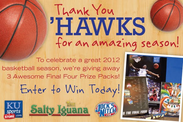 Enter to Win-Thank you Jayhawks