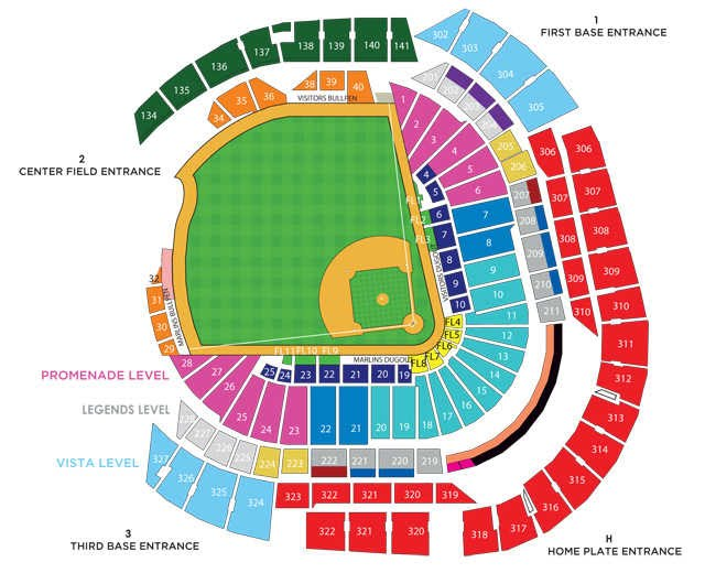 Miami Marlins Seating Chart For Park