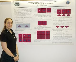 Julie Lang presents the results of a SECOND successful summer at Marshall's REU.