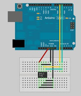 I2C communication with external EEPROM via digital pins