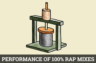 Performance of 100% RAP