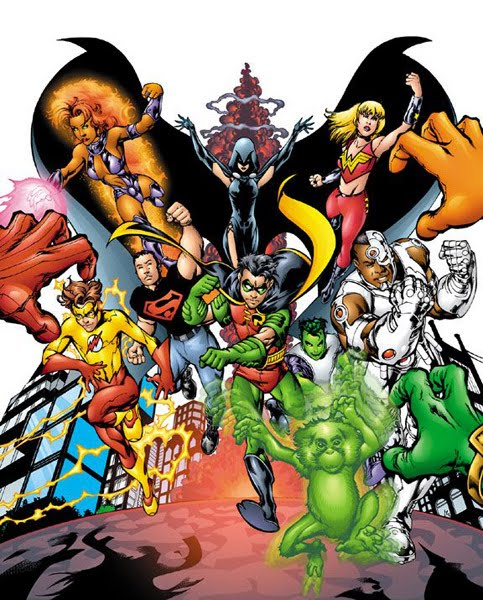 Right! Teen titans dc comic out the