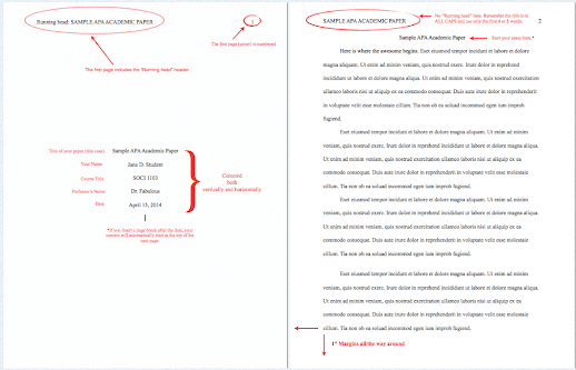 apa format set up in word pages m a scott editing and writing support