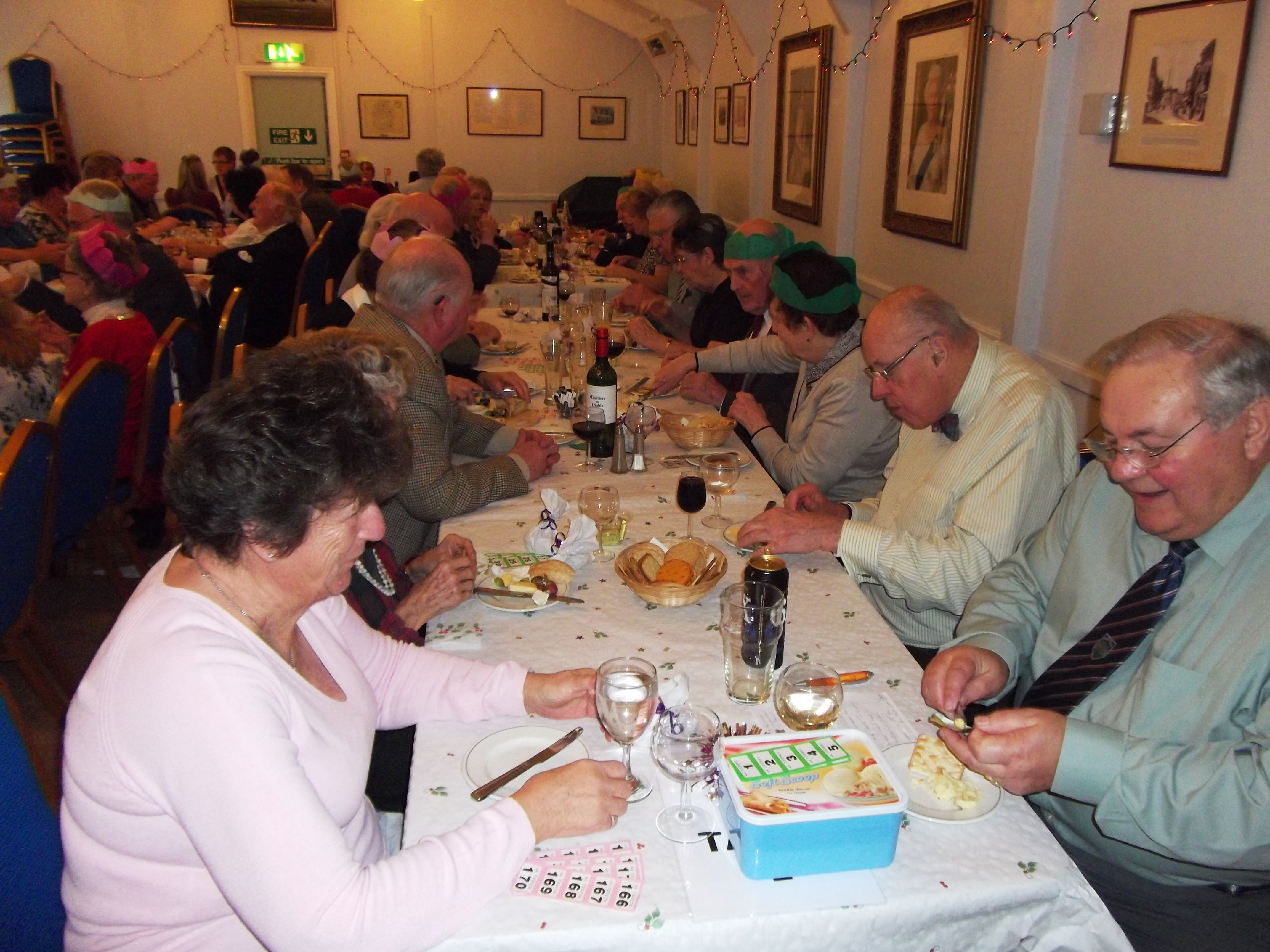 photo of xmas party 2013 in Clarendon Lodge