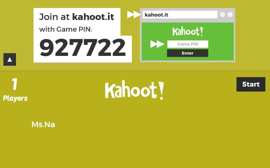 Image of: Lol There Is Game Pin The Number Of And The Name Of Students Joining Kahoot Profweb Copy Fun Math With Msna