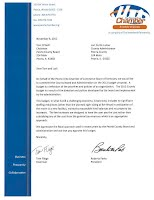 Peoria Chamber of Commerce Letter image