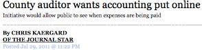 Headline for Online Checkbook proposal