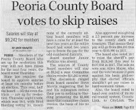 PJStar clipping of article about freezing Co Bd pay