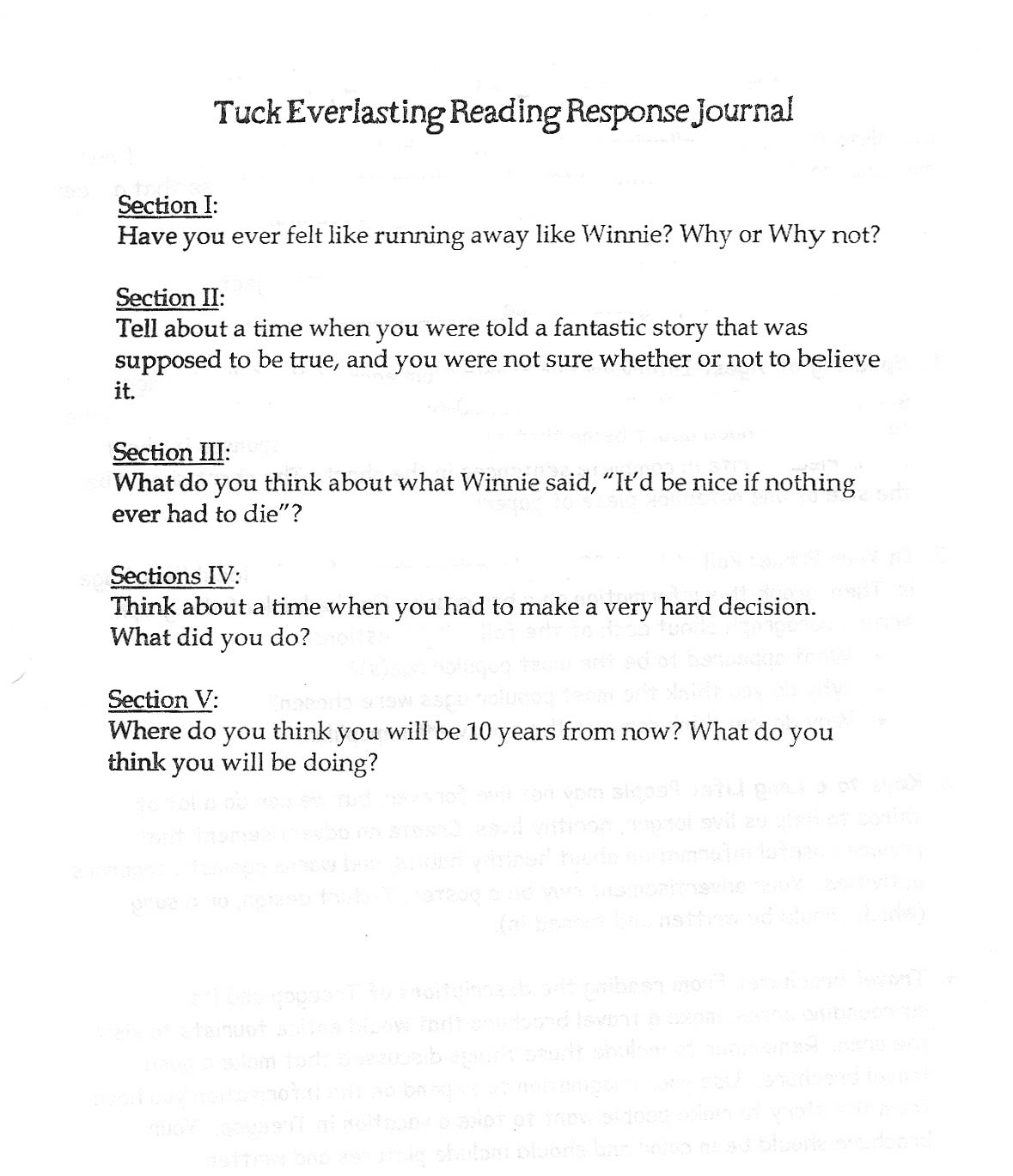 essay on tuck everlasting Tuck everlasting is the story of winnie foster, who encounters the tuck family during her exploration of the forest and is introduced to the concept of eternal life - tuck everlasting: written for children, better for adults essay introduction she comes from a very strict upbringing, with a mother who would rather put her in dressed and to.
