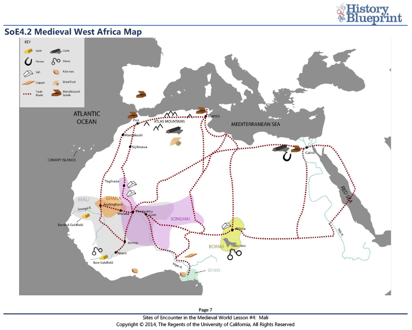 4.1 Mali and West Africa Map Activity   Sites of Encounter in the