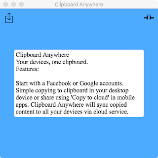 ClipboardAnywhere with received text