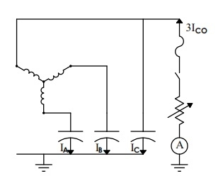 the electrical system as a large distributed capacitor, this current  will change if the physical configuration of the system is altered (i e  by  adding