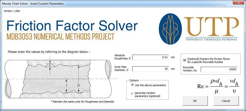 Programming project friction factor solver with user dependent to use it the user simply need to input the flow parameters as shown in the figure and the program will construct a moody diagram based on the parameters ccuart Images