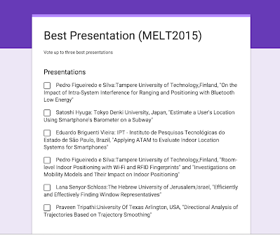 Vote for Best Presentation